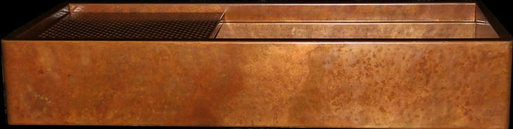 48 inch hammered copper rustic apron front sink by Rachiele.  http://www.rachiele.com