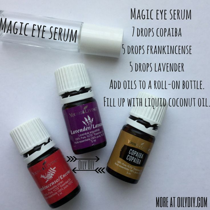 LOVE this serum! Just make sure to put is around your eyes and not in your eyes. I also love the smell of the Frankincense in it. Add 7 drop of Young Living Copaiba Essential Oil, 5 drops of Young Living Frankincense Essential Oil, and 5 drops Young Living Lavender Essential Oil into a roll-on