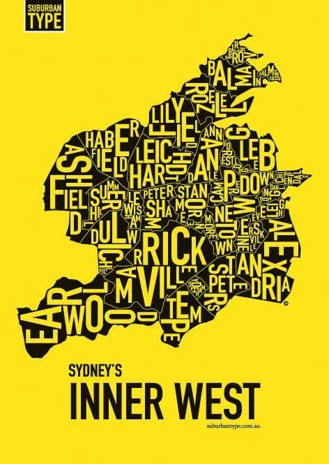 Sydney's Inner West by Suburban Type