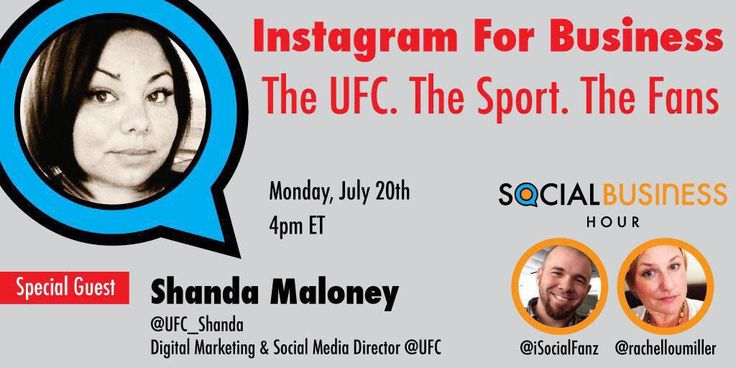 Mark your calendars.... Cancel your meetings. We're talking #instagram for biz with @UFC_Shanda at 4pm ET #SbizHour