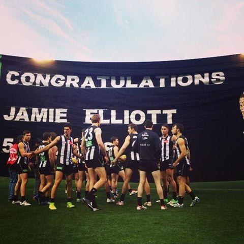 Jamie Elliott's 50th Game