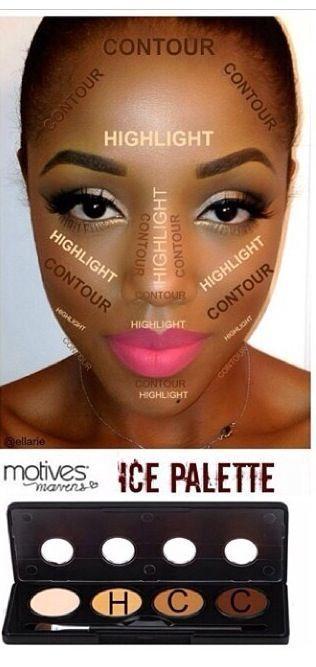 #Contour for black skin