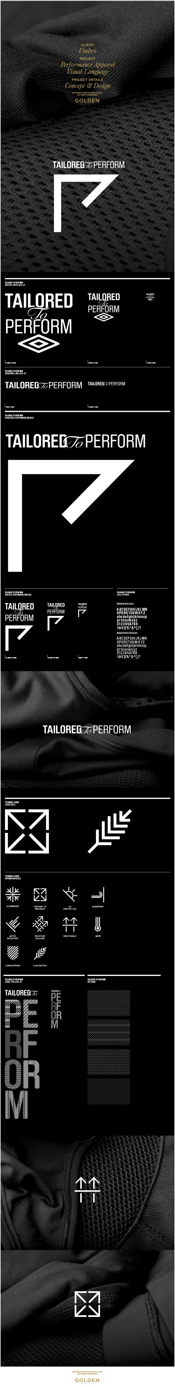 Identity / Umbro Performance Apparel Visual Language by GOLDEN