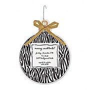 Zebra Christmas invite. Precious. Itty Bitty Company