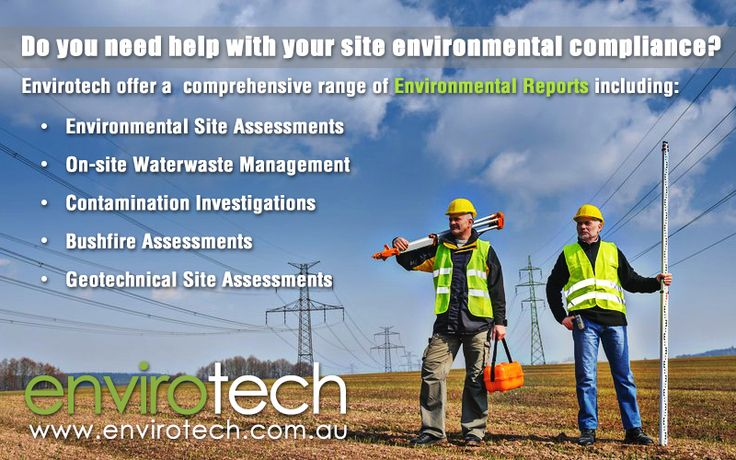 Envirotech Environmental Consultants Sydney provide assessment and environmental reports for the following: Wastewater, Geotechnical, Bushfire, Contamination and Stormwater. Visit www.envirotech.com.au for more information.