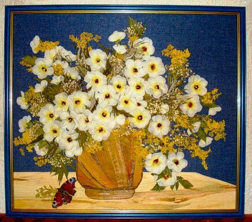 Картины из сухих цветов – стильно и прибыльно.