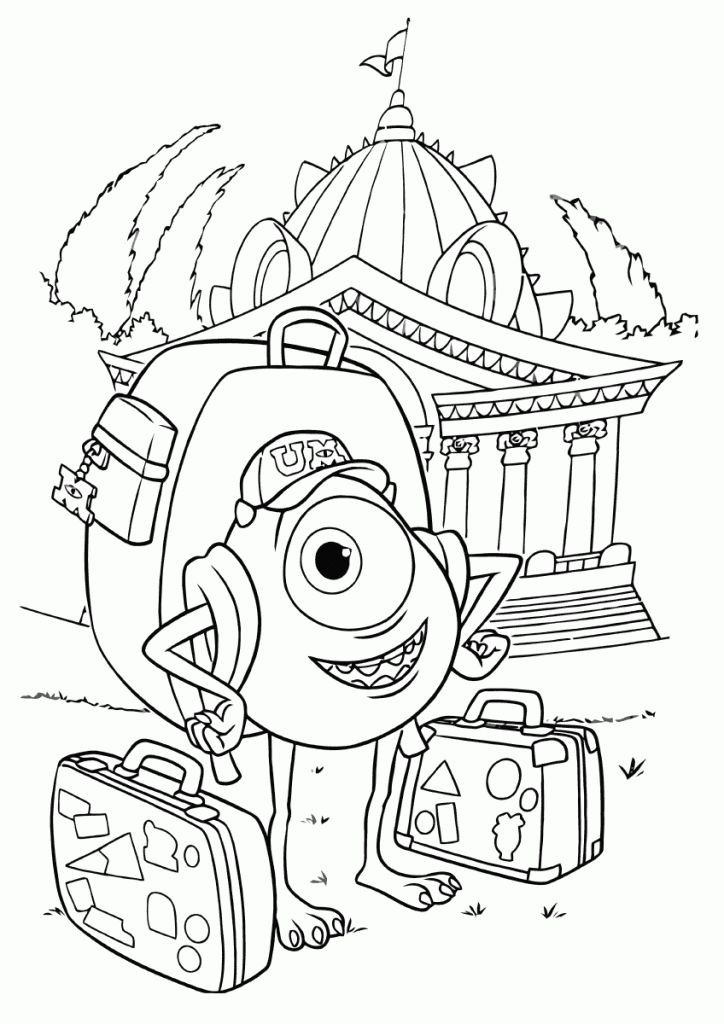 Monsters University Coloring Pages | Coloring pages ...