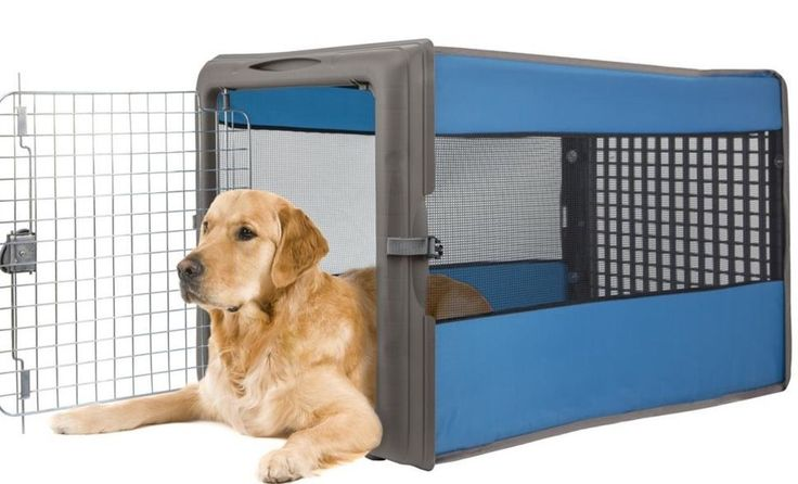 Plastic Folding Dog Crate  Dogs Portable Collapsible Pop Up Crates Large Medium #SportPet