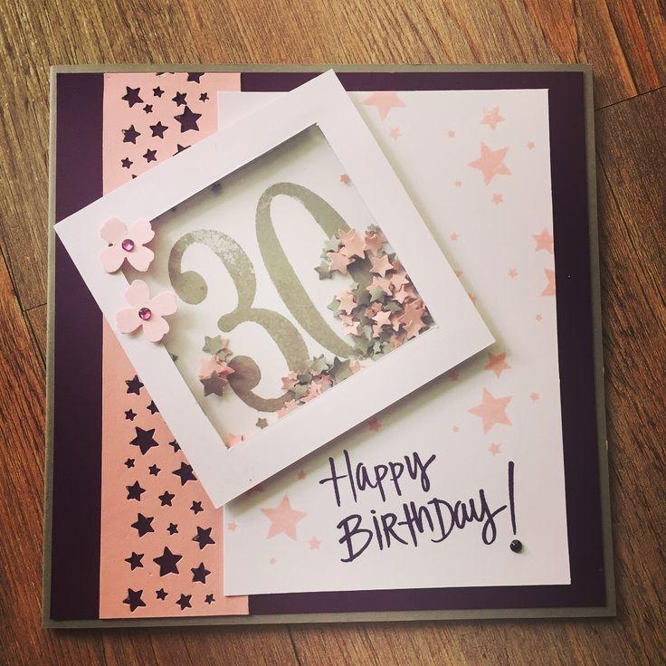 Schüttelkarte zum 30. Geburtstag (Stampin' Up!).