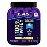 EAS 100% Pure Whey Protein Powder Vanilla 5 LB 30 Grams of Whey Protein Per Serving (Packaging May Vary) Reviews