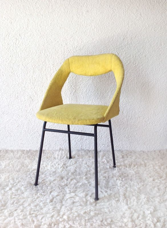 chair with original upholstery ('60-France) www.vadevintage.com