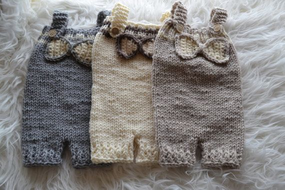 Newborn Pants Overalls Ribbon Baby Pants Unique by knitbabyclothes, $33.00