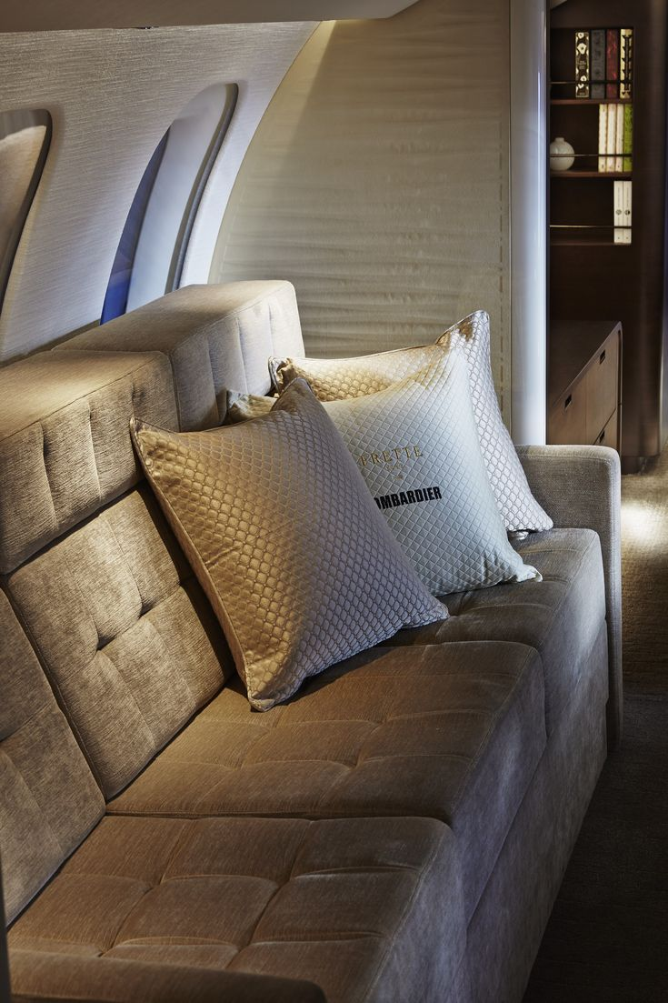 Private jet interior furnished like a vintage train aviation - Find This Pin And More On Jets