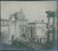 Italia, Roma. Il Foro. Arco di Settimo Severo durante le reparazioni ca. 1905…