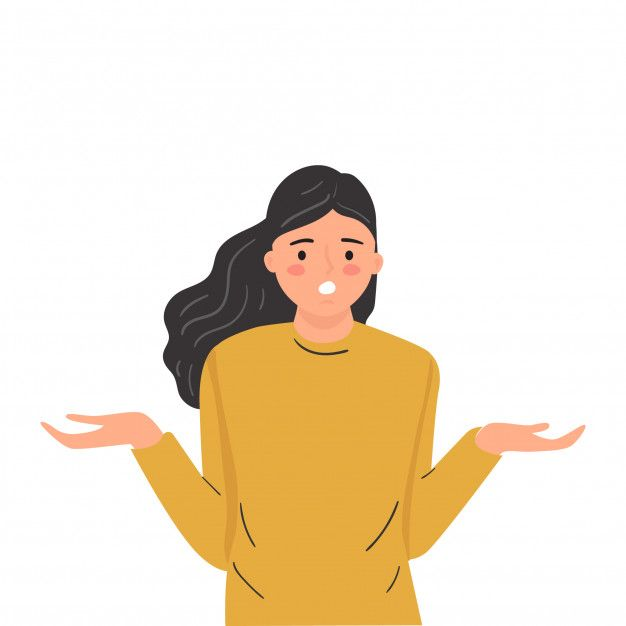 Puzzled Confused Doubtfull Expression Young Woman Modern Cartoon Illustration Cartoon Illustration Illustration Cartoon