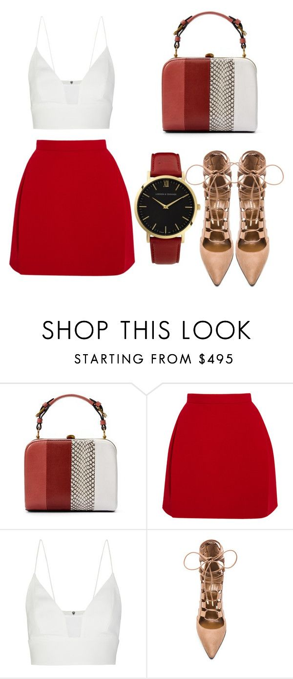 """Coffee Date."" by christyandnef on Polyvore featuring Tory Burch, Delpozo, Narciso Rodriguez, Aquazzura and Larsson & Jennings"