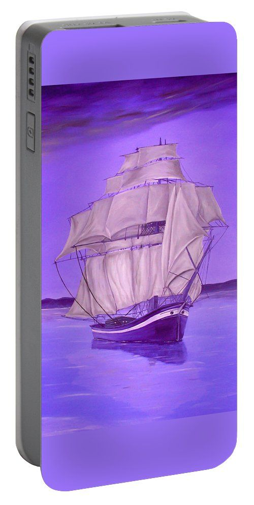Portable Battery Charger,  purple,lavender,nautical,cool,beautiful,fancy,unique,trendy,artistic,awesome,fahionable,unusual,accessories,for,sale,design,items,products,gifts,presents,ideas,marine,sailboat