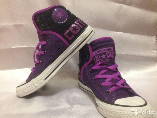 Converse All star - кеды высокие фиолетовые оригин