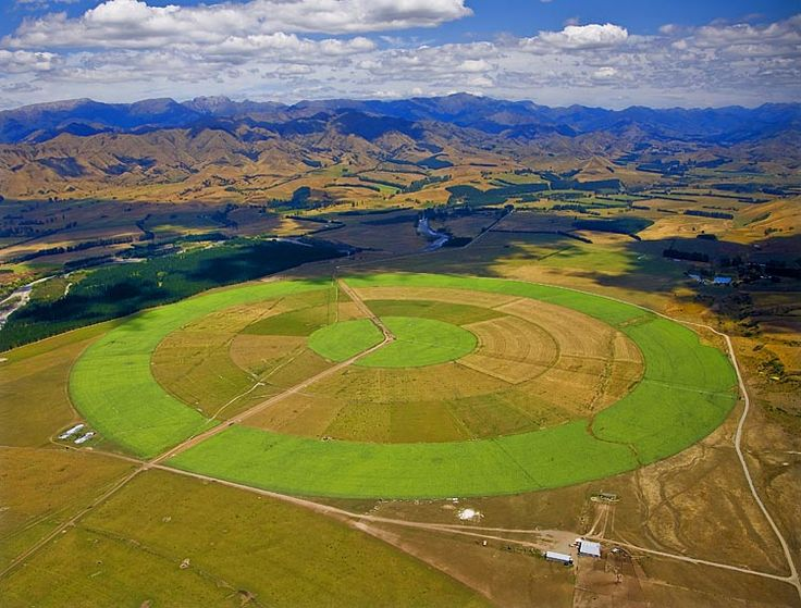Crop circle with a difference,  see more at New Zealand Journeys app for iPad www.gopix.co.nz