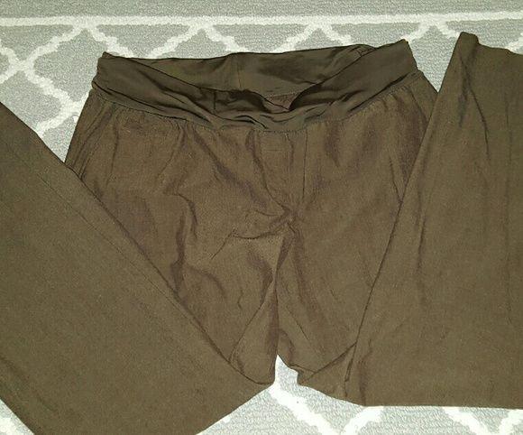 Brown. Maternity dress pants Liz lange. Stretch size 16. Liz Lange Pants