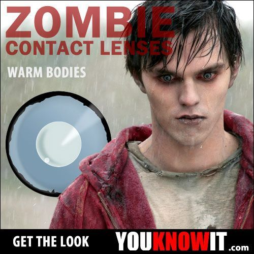 If you love Warm Bodies as much as we do! Then make sure you get some of our zombie lenses this Halloween! http://www.youknowit.com/online-shop/zombie-eyes-contact-lenses.cfm