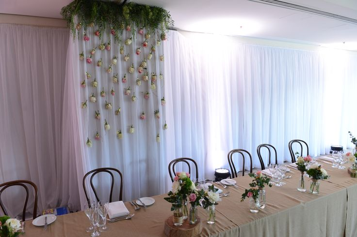 Floral themeing by Pure Flower Designs.