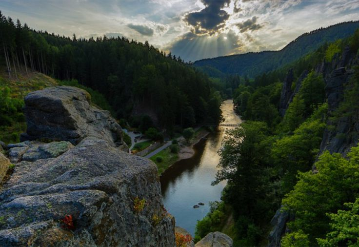 Czech Adventures event - Beautiful view over Ohre river