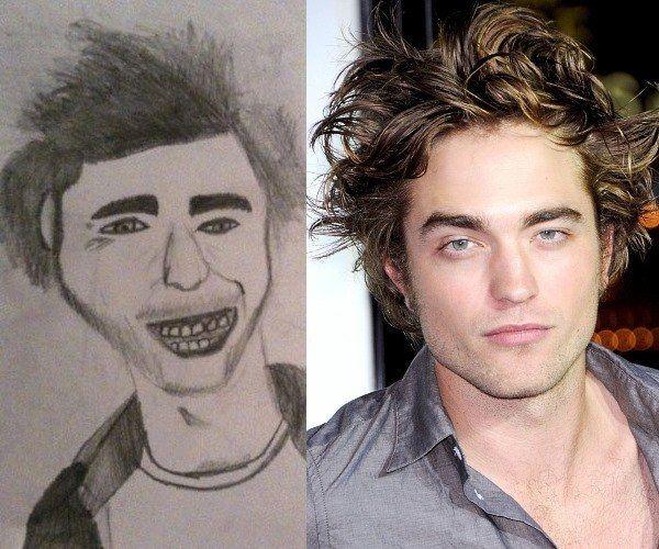 La fanática que dibujó a Robert Pattinson con dientes podridos: