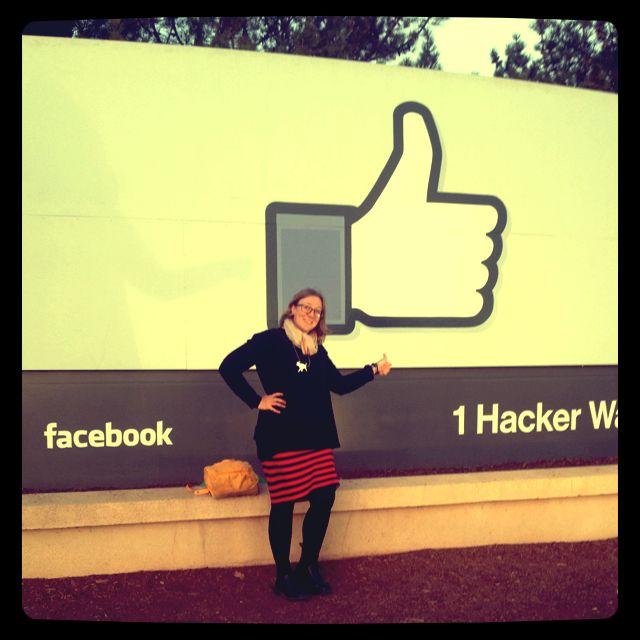 Visiting Facebook headquarters in January 2014. #facebook #socialmedia