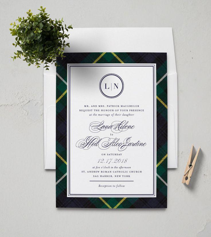 Customizable tartan wedding invitations by Tavish u0026