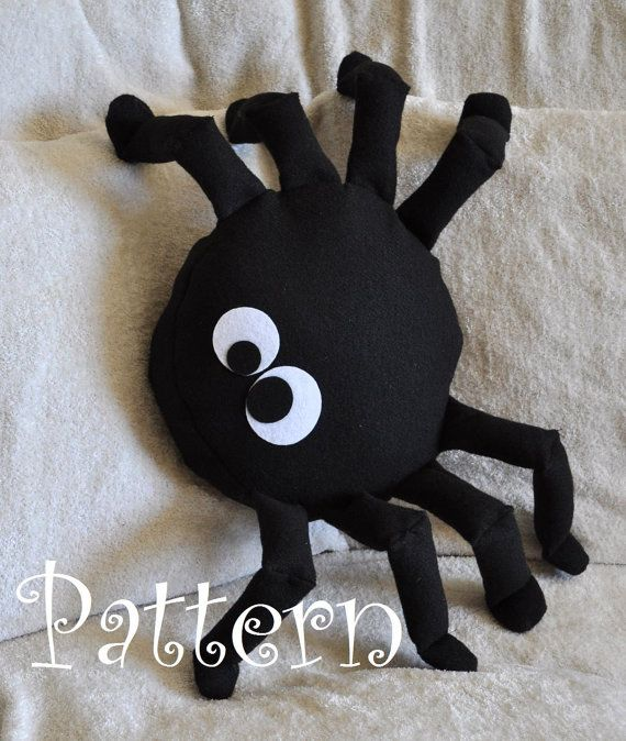 Spider Pattern PDF - Bitsy the Spider Plush Pillow PDF Tutorial How to DIY epattern Halloween on Etsy, $6.40