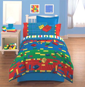 Lego Throw Pillow And Blanket Set : LEGO Bedding LEGOS - Make and Create - Bedding Set - Twin-Single Size ideas for joshs room ...