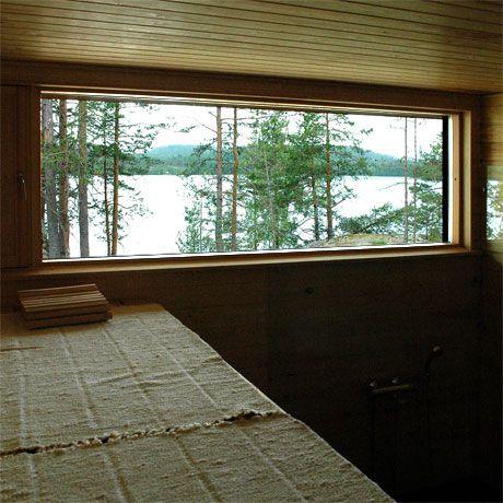Sauna view @ Villa K&Y by Meark Architects, www.meark.fi