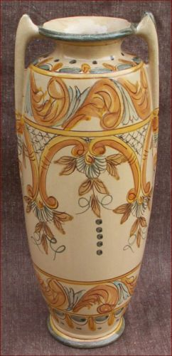 Art Deco Portuguese Majolica Vase Alize Decor Almancil ALGARVE made during 1940's Art Deco period.
