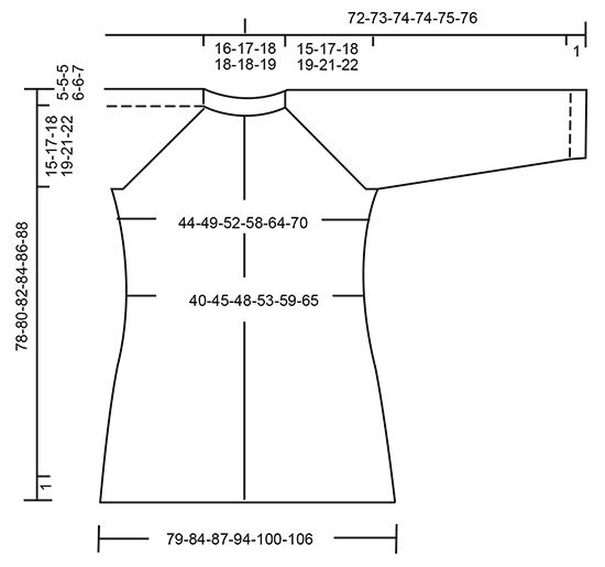Giacca DROPS ai ferri, con raglan e trecce, lavorata dall'alto verso il basso (top down), in