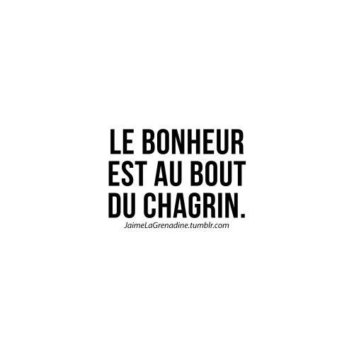 Le bonheur est au bout du chagrin - #JaimeLaGrenadine #citation #punchline #chagrin #tristesse #bonheur
