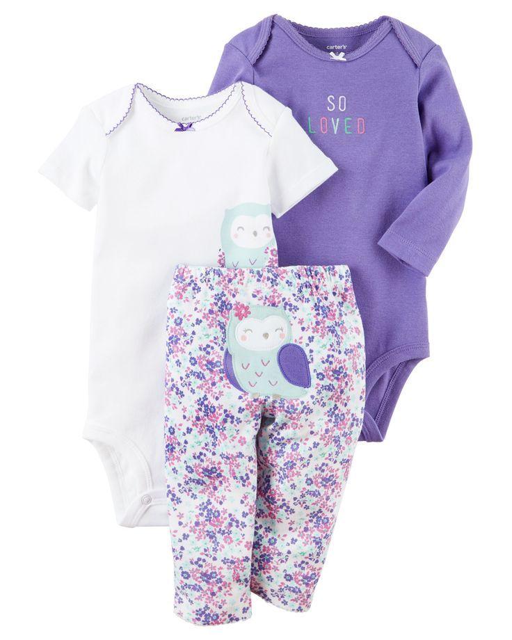 1d10b0456fad Baby Girl 3-Piece Little Character Set   Carters.com #carters #character # little #piece