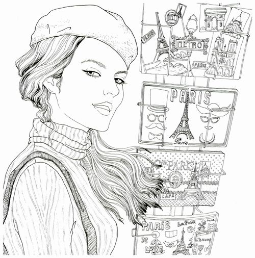 2015 fashion look coloring book secret garden style coloring book for relieve stress kill time graffiti painting drawing book - Fashion Coloring Book