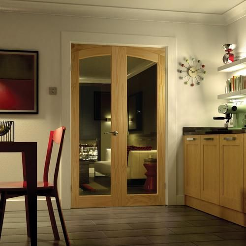 Newland Arched French Doors 2007x1218mm - Internal French Doors - for the living room.