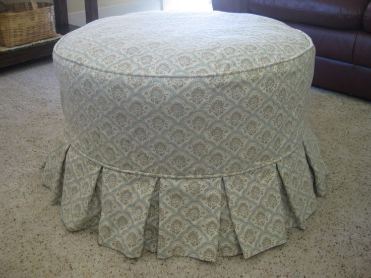 tutorial how to make a slipcover for an ottoman