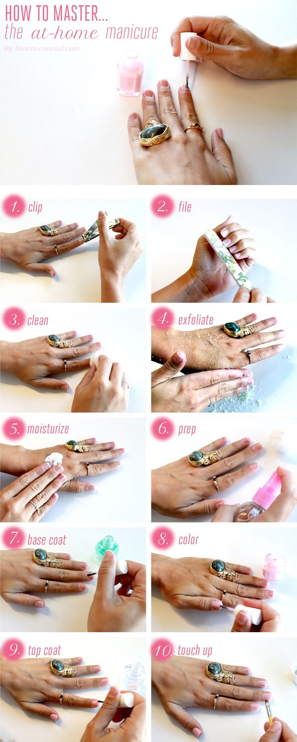 10 Steps to a DIY At-Home Manicure //  #nails #manicure #polish
