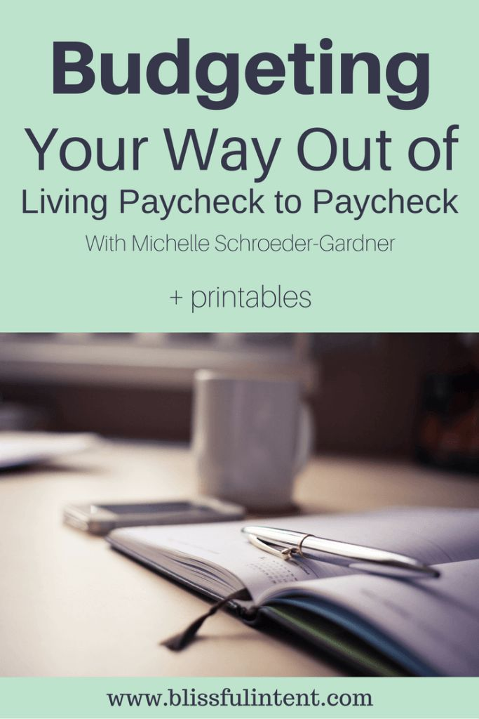 Are you stuck in the paycheck cycle? Living paycheck to paycheck can be difficult. Budget your way out of the paycheck cycle with these tips from Michelle Schroeder-Gardner of @senseofcents. Click here to read more. @blissful_intent Paycheck to paycheck budget | Paycheck to paycheck pay off debt | Paycheck to paycheck printable | Paycheck to paycheck life | Stay at home mom budget | working mom budget