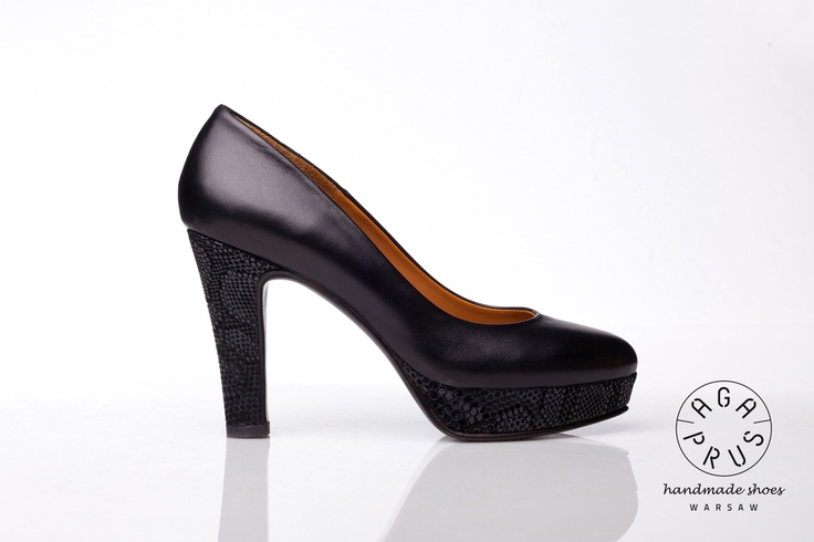 black Neons by Aga Prus. Platform handmade pumps.