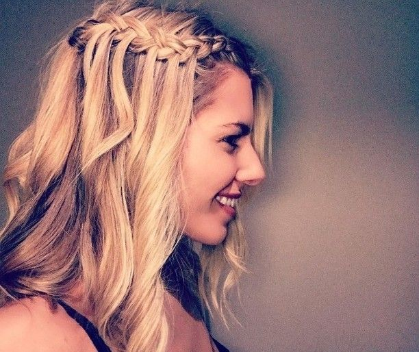 We love this pretty waterfall braid on Mollie King - one to try for NYE! . . . . . . . . . .  #haircare #hairtools #hairpro #professional #salonpro #protools #hblogger #hairdresser #hairstylist #hotd #lotd #hairfoil #masssugu #shears #scissors #braids