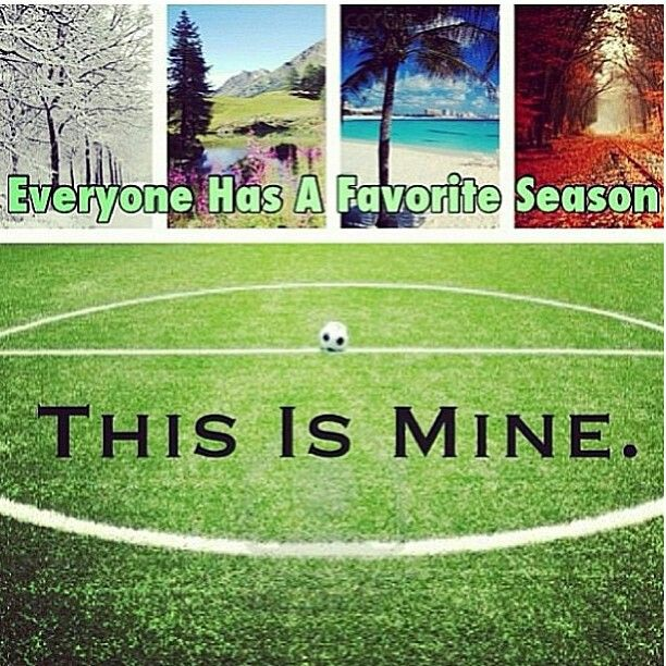 This is my season .. Soccer fields