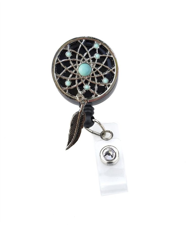 dream catcher, nurse badge, badge clip,badge holder, retractable badge reel