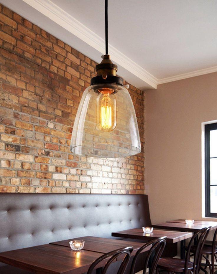 Natsen® Antik Restaurant Bar Pendelleuchten Amerikanischen Land Kreative  Kristallglas Kronleuchter Balkon Treppe Leuchterlampe CD078 Birne