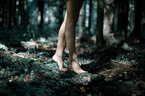 She stood on her tiptoes as she walked along the log. She felt something out there calling to her. The forest sang with magic. It wouldn't be noticeable by most people. They would feel it was calm and peaceful but nothing else.