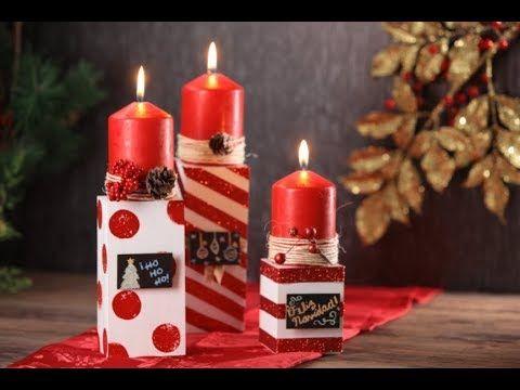Manualidad | Velas navideñas