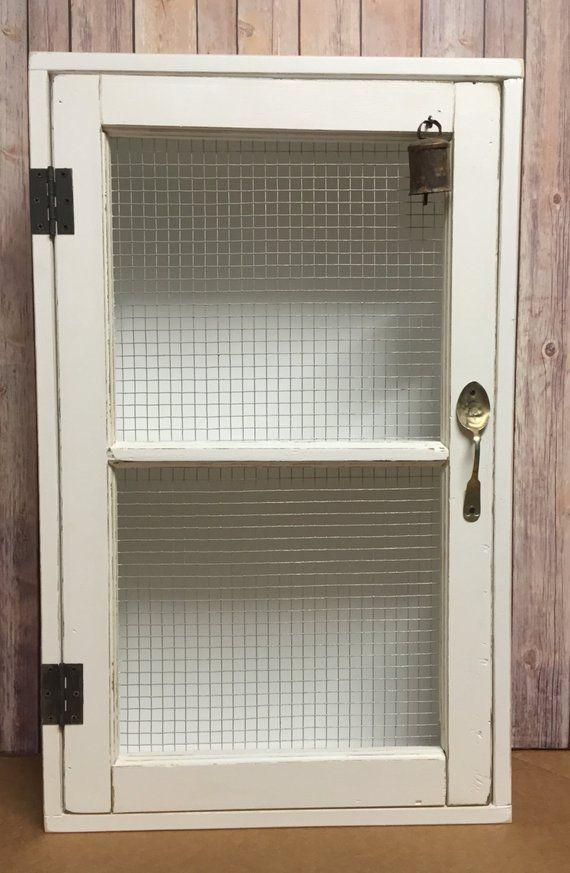Old Window Cabinet Door Reclaimed Wood Welded Rabbit Wire